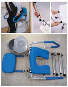 garcia - cadeira de banho e sanitária g2207 b