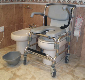 garcia - cadeira de banho, sanitária e de transporte G2208 b